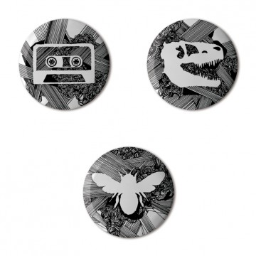 Gift Box: 3 button badges (Lines)