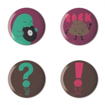Gift Box: 4 button badges (Juju's Mix)