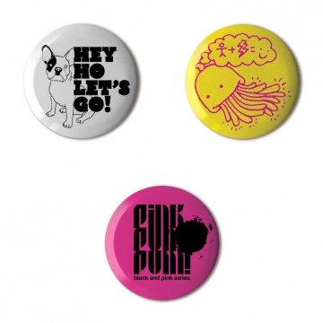 Gift Box: 3 button badges (Musa Mix)