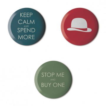 Gift Box: 3 button badges (Keep Calm)
