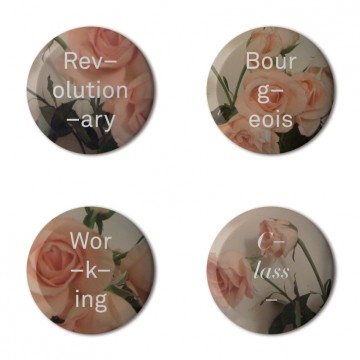 Gift Box: 4 button badges (Classy Roses)