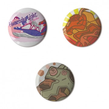 Gift Box: 3 button badges (Tony's AFOMFS)