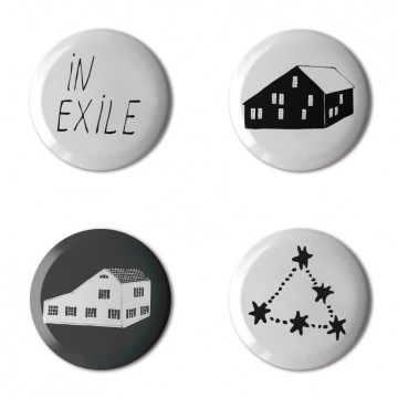 Gift Box: 4 button badges (Home)