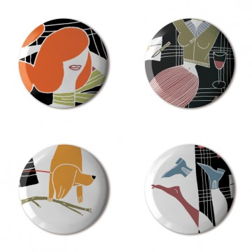 Gift Box: 4 button badges (Picnic)