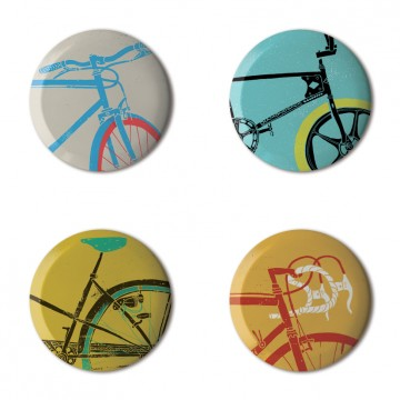 Gift Box: 4 button badges (Bikes)
