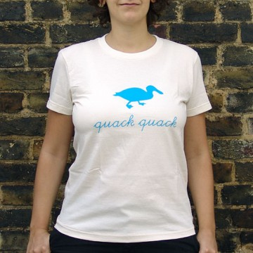 bzzzpeek.com support T-shirt, Duck (women)
