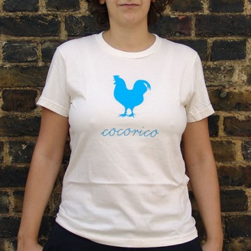 bzzzpeek.com support T-shirt, Rooster (women)