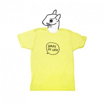 Sorry I'm Late (unisex) T-shirt + badge