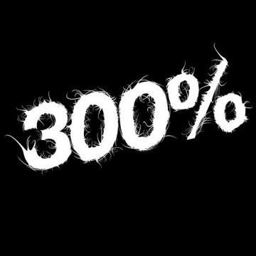 300% (women)