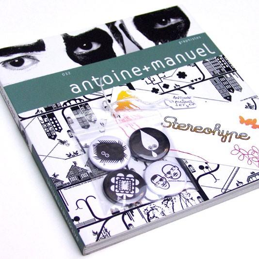 antoine manuel book   badge set bundle stereohype