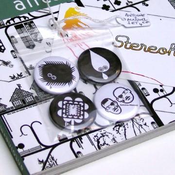 Antoine+Manuel book / badge set bundle