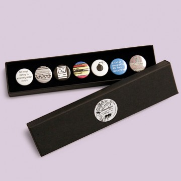 Password1 T-shirt + button badge gift box