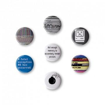 Password1 T-shirt + button badge gift box
