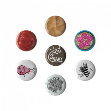 Button badge gift box - Food