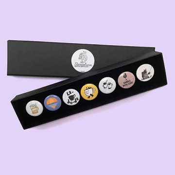Button badge gift box - Drinks