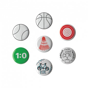 Button badge gift box - Sport