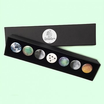 Button badge gift box - Space
