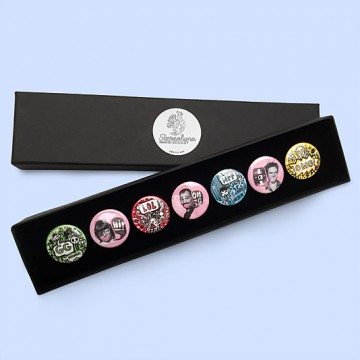 Button badge gift box - OMGLOL