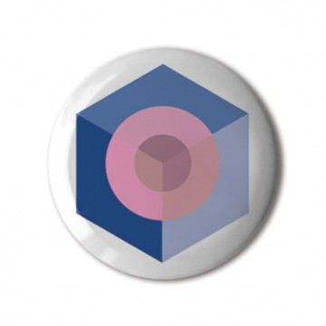 Hexagon Blue Pink