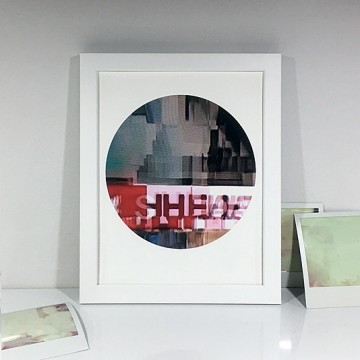 Glitch 7 (Red Type) print