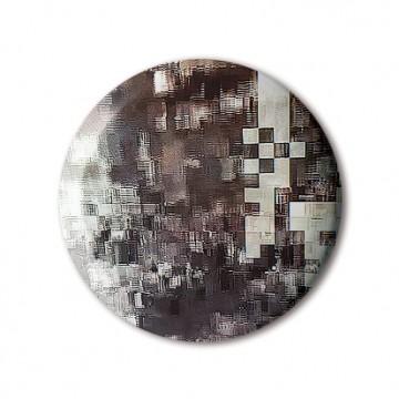 Glitch 6 (Brown, Beige) print