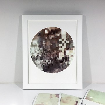 Glitch 6 (Brown, Beige) print