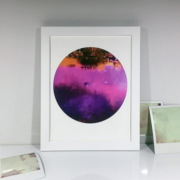Glitch 4 (Pink, Orange, Purple) print