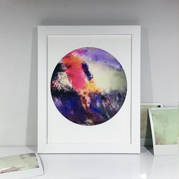 Glitch 3 (White, Pink, Purple) print