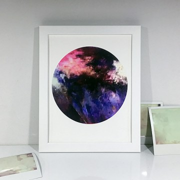 Glitch 1 (Black, Purple, Pink) print