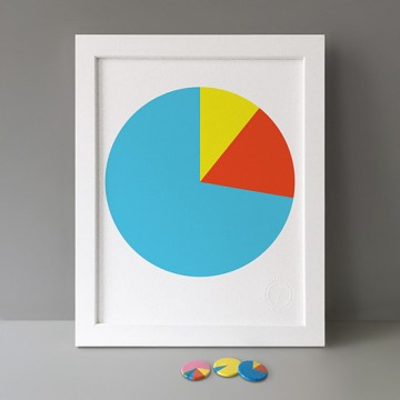 Blue Pie Chart print