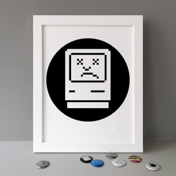 Sad Mac print