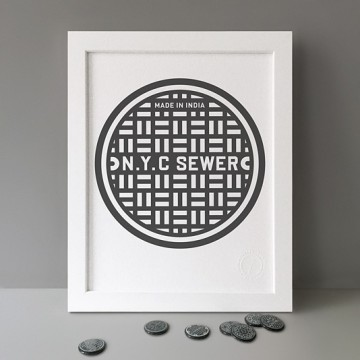 N.Y.C Sewer print