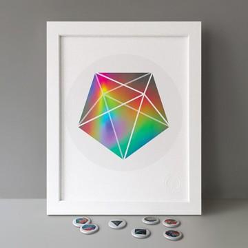 Pentagonal Bipyramid print