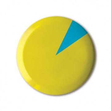 Yellow Pie Chart print