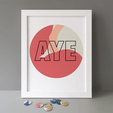 Aye print
