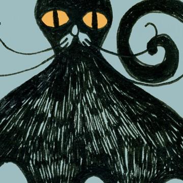 Black Cat print