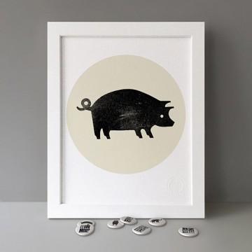 Boris (Pig) print
