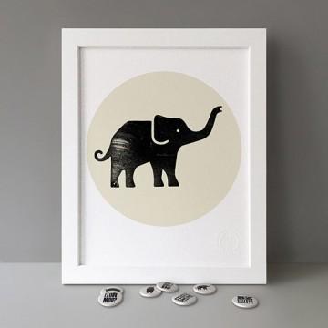 Nellie (Elephant) print