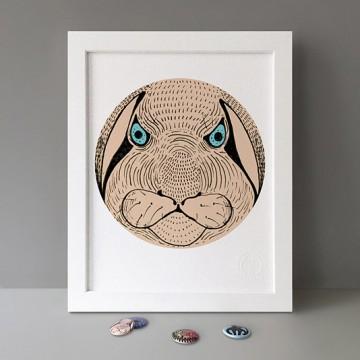 Angry Rabbit print