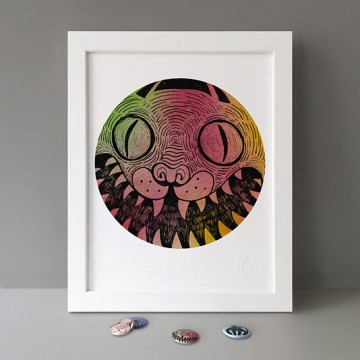 Hissing Cat print
