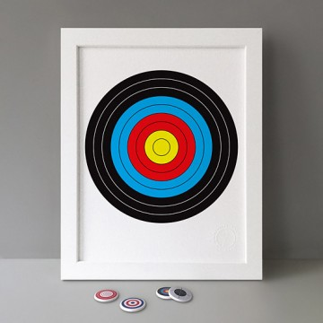 Colourful Target print