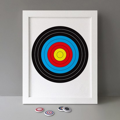 colourful target print stereohype