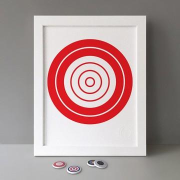 Red Target print
