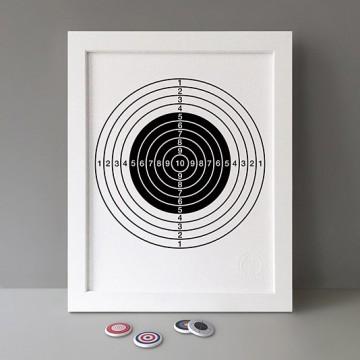 Black Target print