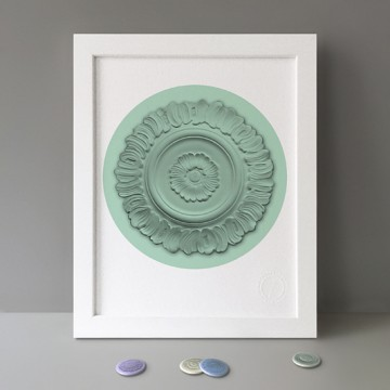Ceiling Rose (Green) print