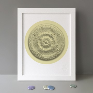 Ceiling Rose (Yellow) print