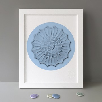 Ceiling Rose (Blue) print