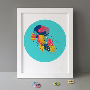 Jellyfish (Blue) print