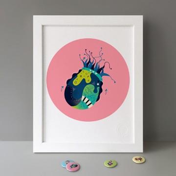 Jellyfish (Pink) print