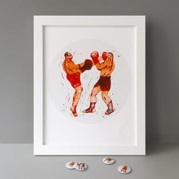 Muay Thaï (Left Kick) print